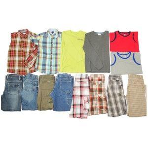 14 Pc Boys Lot Sz 12-14 Name Brand School Outfits